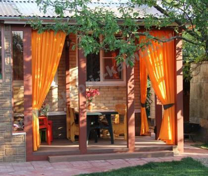 Оранжевые шторы, г. Ногинск